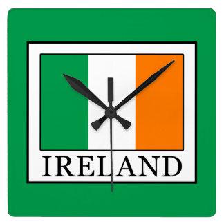 L'Irlande Horloge Carrée