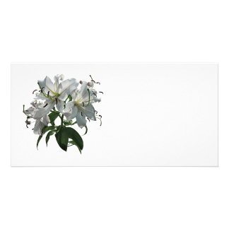 Lis blancs photocarte customisée