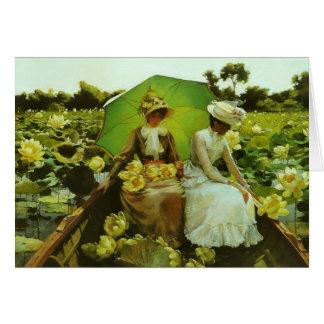 Lis de Lotus par la note de Charles Courtney Cartes De Vœux
