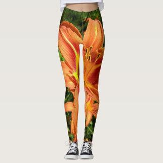 Lis tigrés oranges leggings