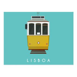 Lisbon Postcard Tram Carte Postale