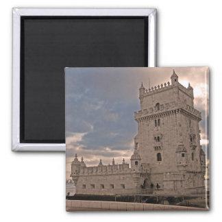 Lisbonne Torre de Belém Magnet Magnet Carré