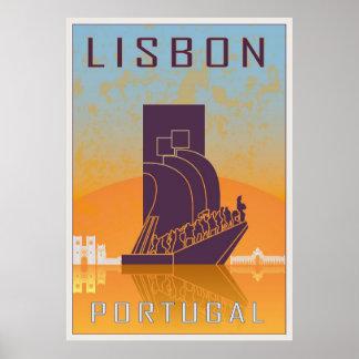 Lisbonne vintage poster posters
