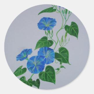 Liseron bleu sticker rond