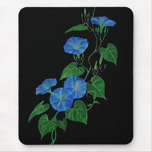 Liseron bleu tapis de souris zazzle for Surface minimum bureau code du travail