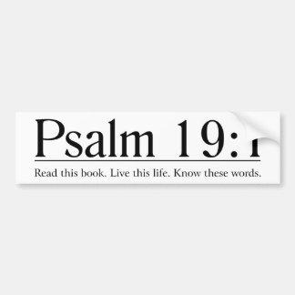 Lisez le 19:1 de psaume de bible autocollant de voiture