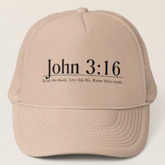 Lisez le 3h16 de John de bible Casquette