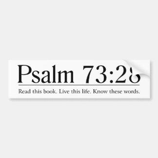 Lisez le 73:28 de psaume de bible autocollant de voiture