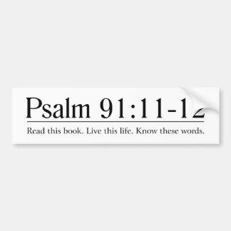 Lisez le 91:11 de psaume de bible - 12 autocollant de voiture