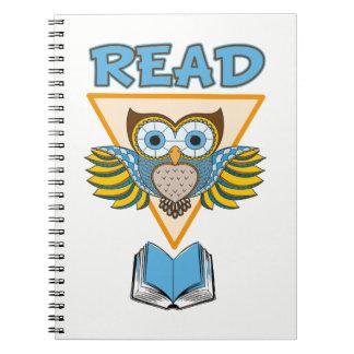Lisez le hibou bleu d'or de livres
