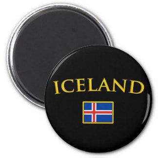 L'Islande d'or Magnet Rond 8 Cm