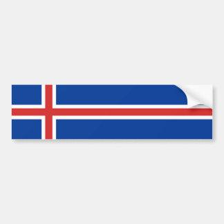 L'Islande - drapeau national islandais Autocollant Pour Voiture