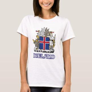 L'ISLANDE - joint/emblème/blason/manteau des T-shirt