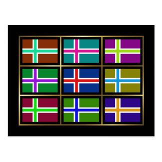 L'Islande Multihue marque la carte postale