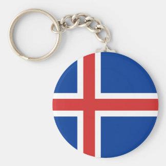 l'Islande Porte-clé Rond