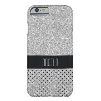 Lissez l'argent d'étincelle et le motif de point coque iPhone 6 barely there