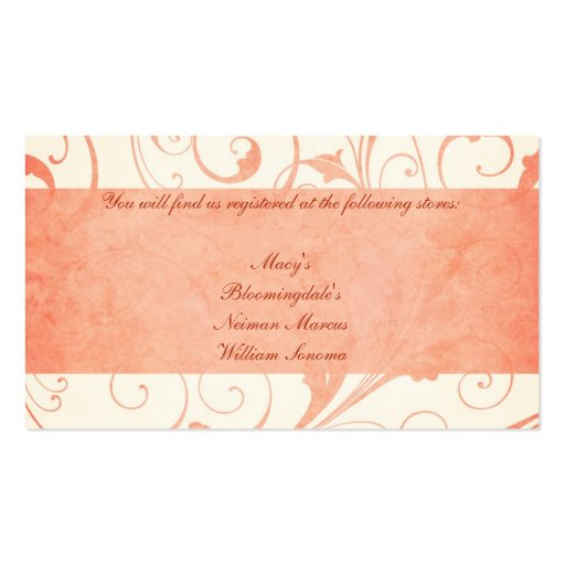 liste de cadeaux de faire part de mariage de melon carte de visite standard zazzle. Black Bedroom Furniture Sets. Home Design Ideas