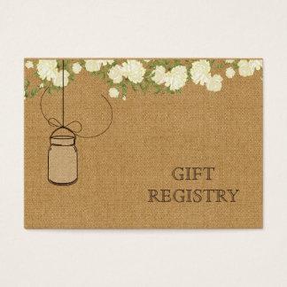 liste de cadeaux ene ivoire de pots de maçon de cartes de visite