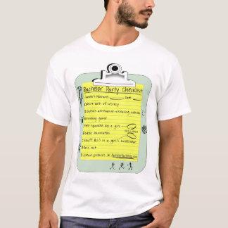 Liste de contrôle d'enterrement de vie de jeune t-shirt