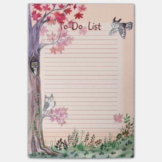 Liste de remue-ménage d'aquarelle de forêt de