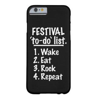 Liste de remue-ménage de ` de festival' (blanche) coque iPhone 6 barely there