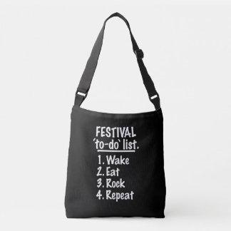 Liste de remue-ménage de ` de festival' (blanche) sac ajustable