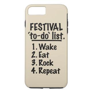 Liste de remue-ménage de ` de festival' (noir) coque iPhone 7 plus