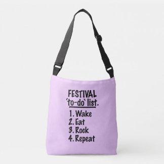 Liste de remue-ménage de ` de festival' (noir) sac ajustable