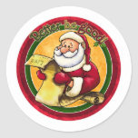 Liste de Santa - améliorez soit bon Adhésif
