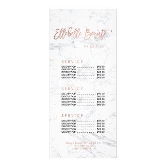 Listes des prix faites sur commande de marbre d'or carte publicitaire