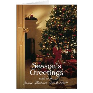 Lit 2 d'arbre de Noël Carte De Vœux