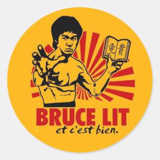 Lit de Bruce Sticker Rond