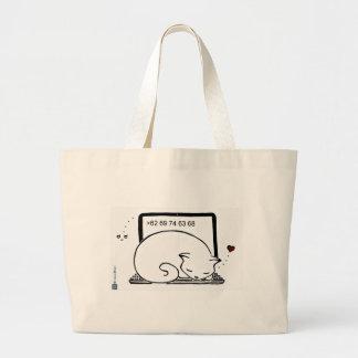 Lit de chat d'ordinateur portable sac en toile jumbo
