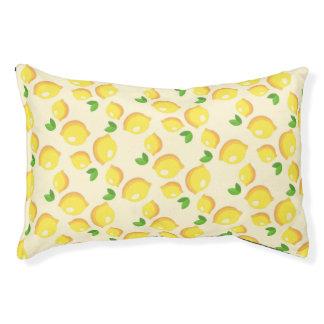 Lit de chien de motif de citron petit