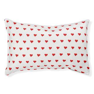 Lit de chien de motif d'origami de coeur d'amour