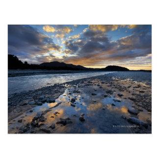 Lit de la rivière du glacier de Franz Josef Carte Postale