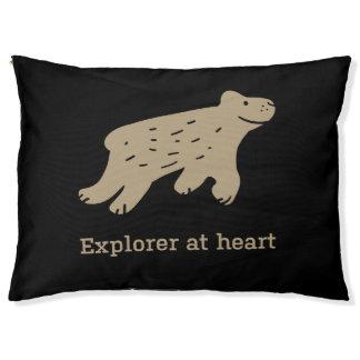 """Lit drôle de chien de citation """"explorateur au"""