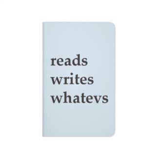 lit, écrit, journal de machine à écrire de whatevs