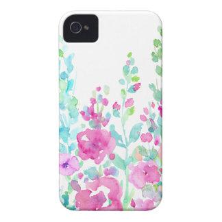 Lit floral abstrait d'aquarelle coque iPhone 4