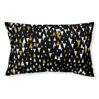 Lit Pour Animaux Art moderne de triangle - or noir