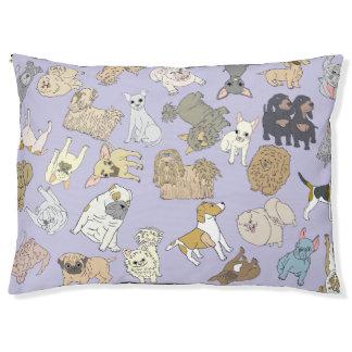 Lit Pour Animaux Mélange de petits chiens sur un arrière - plan