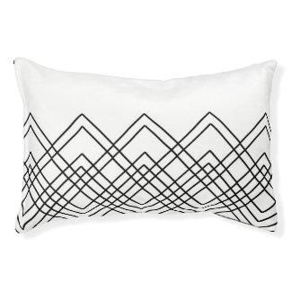 Lit Pour Animaux Motif géométrique abstrait - noir et blanc.