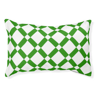 Lit Pour Animaux Motif géométrique abstrait - vert et blanc