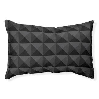Lit Pour Animaux Motif géométrique moderne de carré noir
