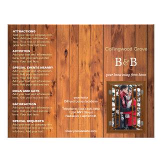 Lit rustique - et - cerise triple de brochure de prospectus 21,6 cm x 24,94 cm