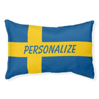 Lit suédois personnalisé de chien de drapeau pour