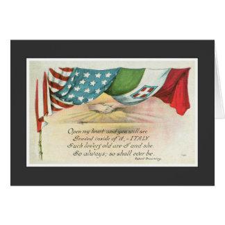 L'Italie a gravé sur mon coeur Carte De Vœux