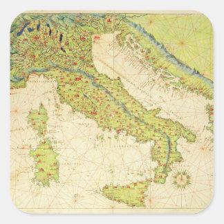 L'Italie Stickers Carrés