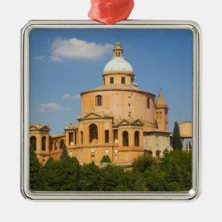 L'Italie, Bologna, jour ensoleillé avec Portico di Ornement Carré Argenté