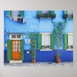 L'Italie, Burano. Une maison colorée dans Burano p Posters